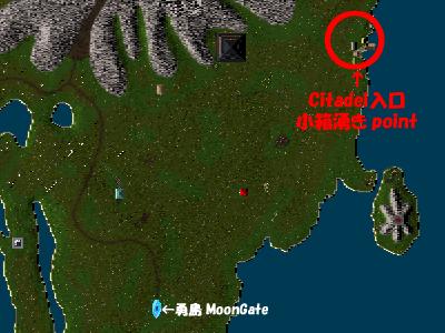 黒盟郭入口は勇島東端の漁村